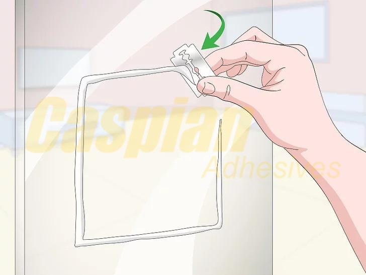 کندن و تمیز کردن درزگیر سیلیکونی